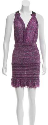 Isabel Marant Silk Sleeveless Dress Purple Silk Sleeveless Dress