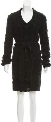 Burberry Wool Longline Cardigan