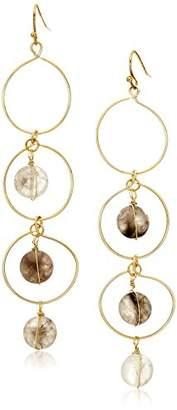 Panacea Stone Lin Circle Drop Earrings