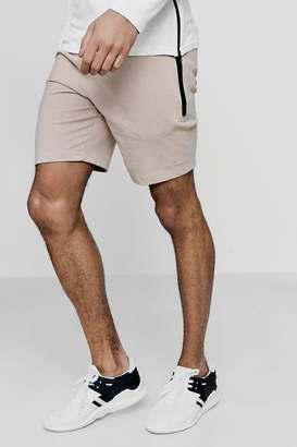 boohoo MAN Signature Skinny Fit Shorts With Sports Zip