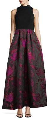 Decode 1.8 Pleated Brocade Gown