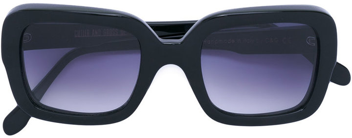 Cutler & Gross blue tinted square sunglasses