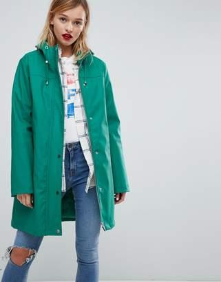 Asos DESIGN fleece lined raincoat
