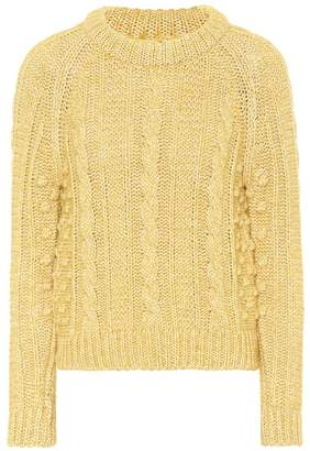 ALEXACHUNG Cotton and wool-blend sweater