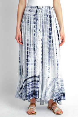 Juniper Blu Tie Dye Button-down Maxi Skirt