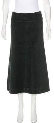 Dolce & Gabbana Corduroy Midi Skirt