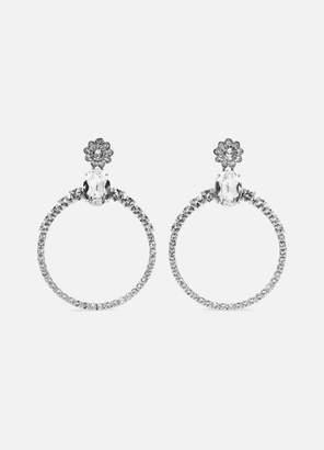 Miu Miu Silver-tone Crystal Clip Earrings