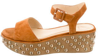 B Brian Atwood Embellished Wedge Sandals $125 thestylecure.com