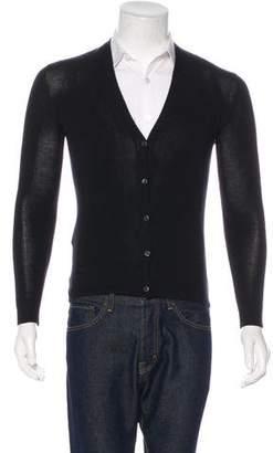 Prada Cashmere & Silk V-Neck Cardigan