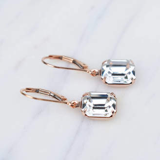 Katherine Swaine Crystal Deco Inspired Leverback Earrings