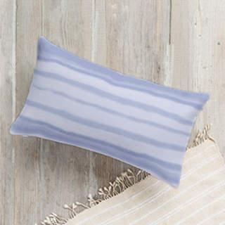 Soft Watercolor Stripe Lumbar Pillow