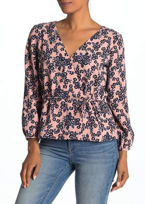 J.Crew J. Crew Faux Wrap Long Sleeve Blouse
