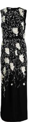 Oscar de la Renta Embroidered Column Gown