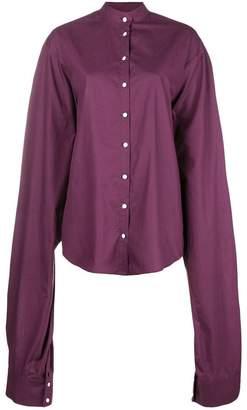a0f052e72bfed1 Margaux Rouge oversized sleeve mandarin collar shirt