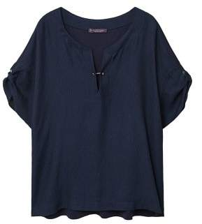 Violeta BY MANGO Piercing combined blouse