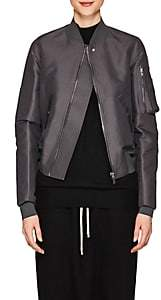 Rick Owens Women's Flight Canvas Bomber Jacket - Iron