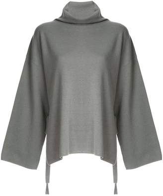 G.V.G.V. Milano ribbed bow high neck sweater