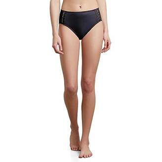 Kenneth Cole New York Women's Mid Waist Hipster Bikini Swimsuit Bottom