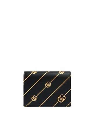 7900e971fb4 Gucci GG Diagonal Flap Card Case