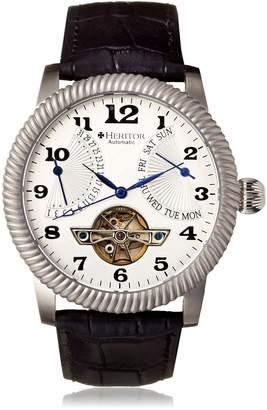 Heritor Men's HERHR2001 Piccard Black Leather Watch