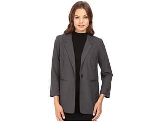 Kensie Heather Stretch Crepe Longer Blazer KS8K2S45 Women's Jacket