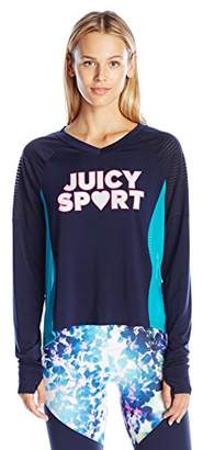 Juicy Couture Black Label Women's SPT Color Block Graphic Tee