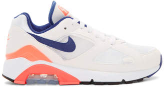 Nike White Air Max 180 Sneakers