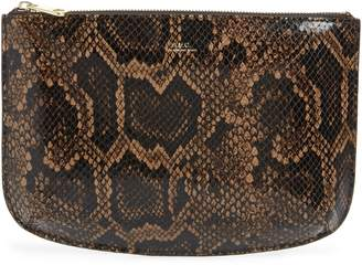 A.P.C. Sarah Snake Embossed Leather Clutch