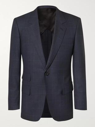 Kingsman Navy Slim-Fit Prince Of Wales Checked Wool Suit Jacket