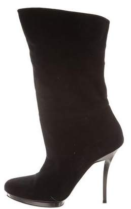 Gucci Pointed-Toe Mid-Calf Boots