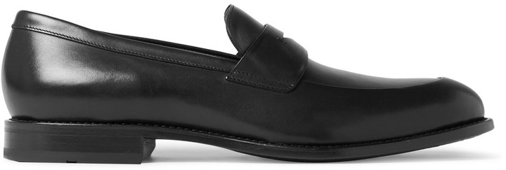 Hugo BossHugo Boss Stockholm Polished-Leather Penny Loafers