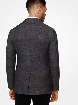 Michael Kors Slim-Fit Glen Plaid Cotton and Wool Blazer