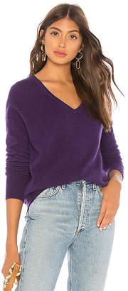 White + Warren Essential V Sweater