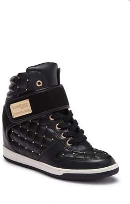 Bebe Studded Hi-Top Wedge Sneaker