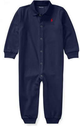 Ralph Lauren Childrenswear Cotton Polo Coverall, Size 3-12 Months
