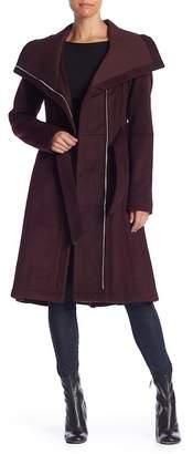 BCBGeneration Missy Ribbed Collar Wool Blend Coat