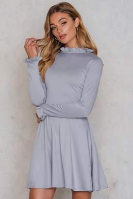 Glamorous Ruffle Detail Dress Grey