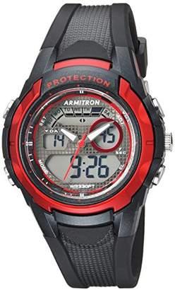 Armitron Sport Unisex 25/6429RBK Red Accented Analog-Digital Chronograph Black Resin Strap Watch