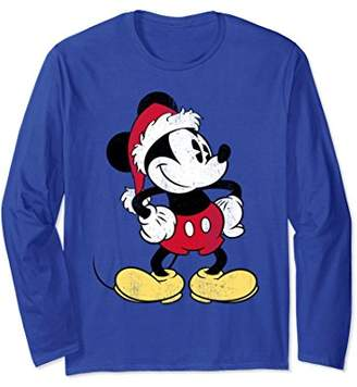 Disney Santa Mickey Mouse Long Sleeve T-shirt