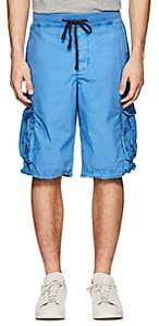 James Perse MEN'S WASHED COTTON CARGO SHORTS - BLUE SIZE 0
