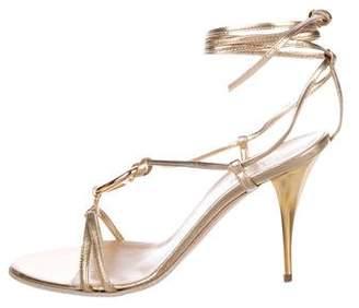 Hermes Metallic Leather Sandals