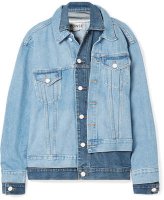 Monse Oversized Layered Denim Jacket - Blue