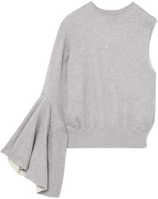 Facetasm One-shoulder Cotton-jersey Sweatshirt