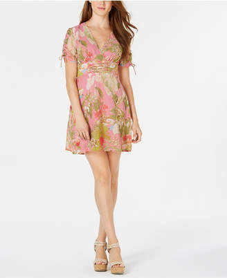 GUESS Pierre Printed Fit & Flare Dress