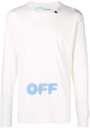 Off-White spray paint logo T-shirt