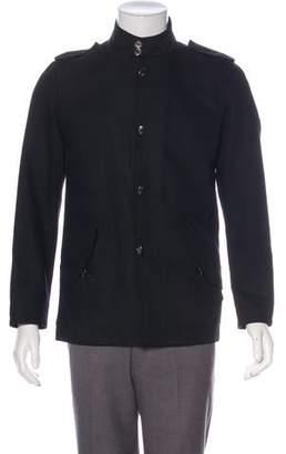 Versace Woven Button -Up Jacket