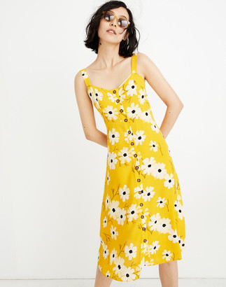Madewell Button-Front Midi Dress in Ikat Floral