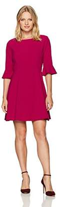 Tahari by Arthur S. Levine Women's Petite Pettite Bell Sleeve Bi Stretch Dress