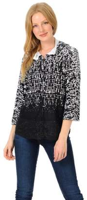 Cubism Abstract Hoodie Cardigan