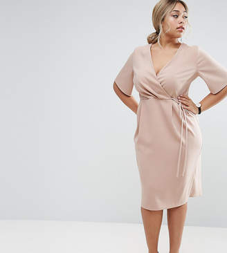 Asos Midi Wrap Dress with Tie Detail